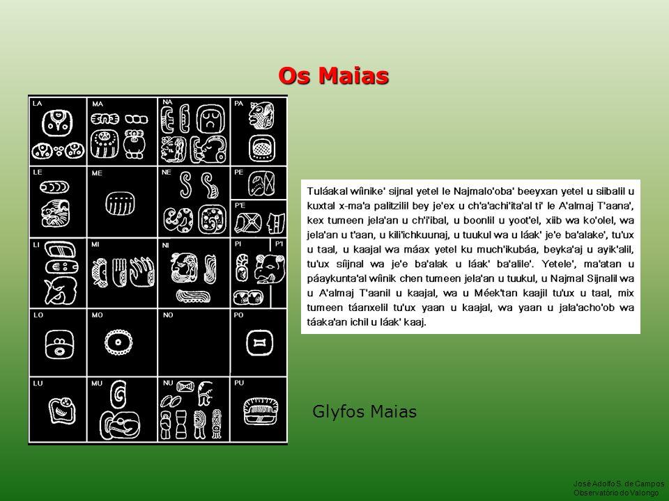 Os Maias Glyfos Maias José Adolfo S. de Campos Observatório do Valongo