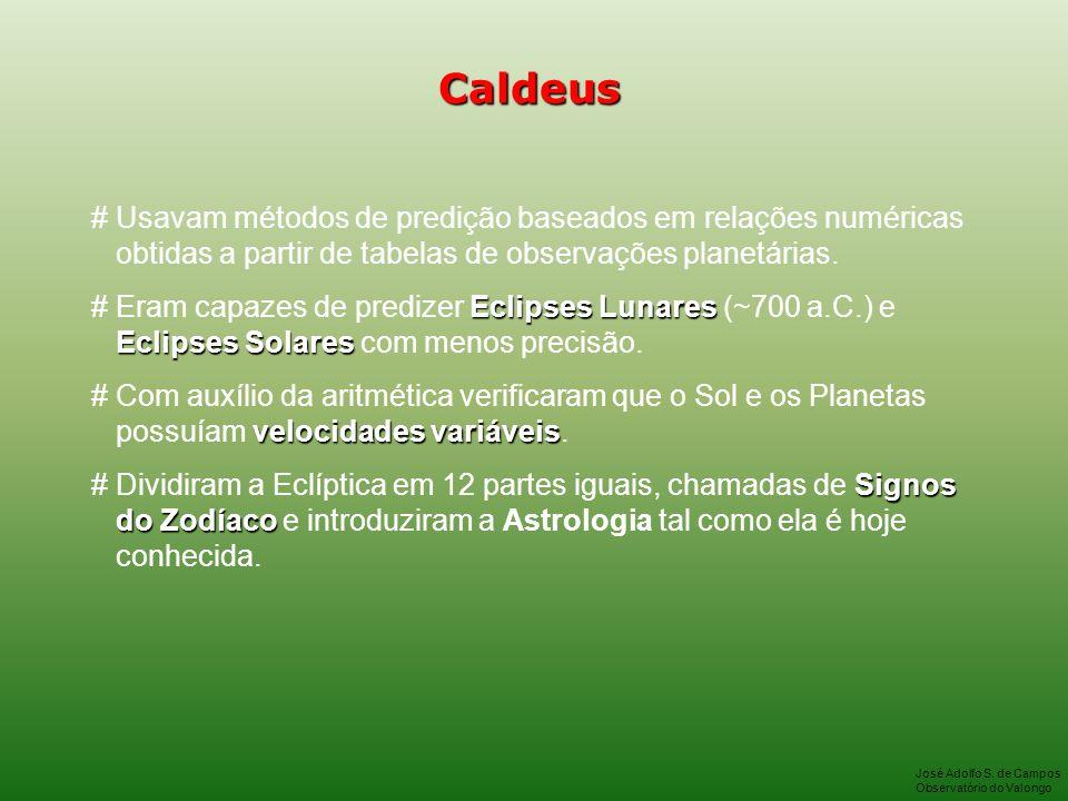 Caldeus # Usavam métodos de predição baseados em relações numéricas