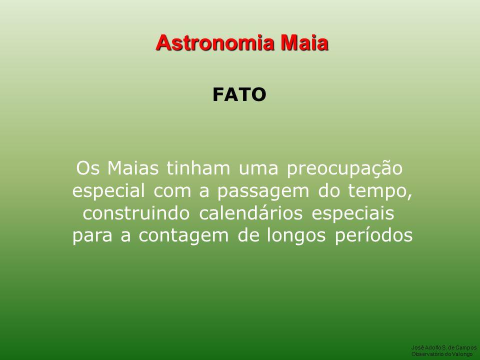 Astronomia Maia FATO Os Maias tinham uma preocupação