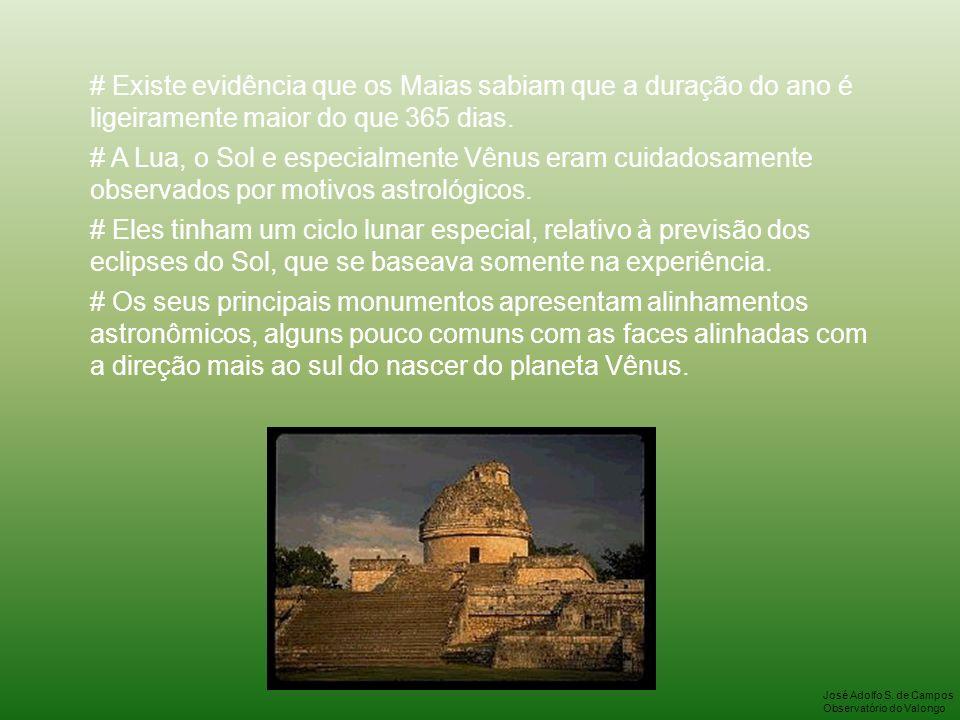# Existe evidência que os Maias sabiam que a duração do ano é ligeiramente maior do que 365 dias.