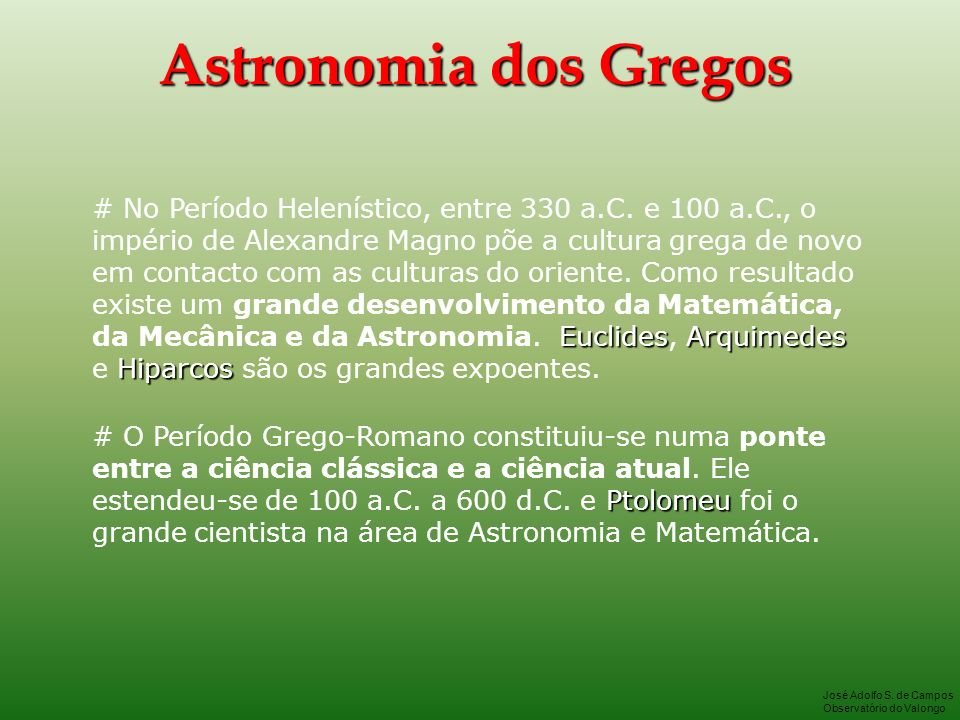 Astronomia dos Gregos