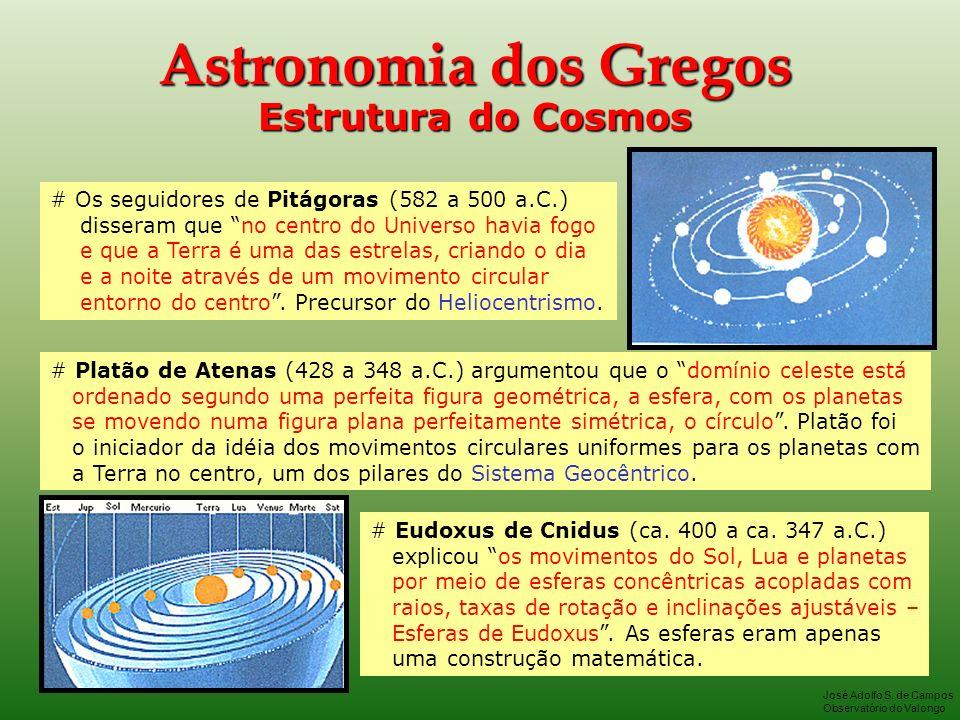 Astronomia dos Gregos Estrutura do Cosmos