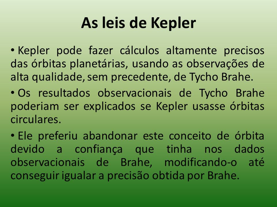 As leis de Kepler