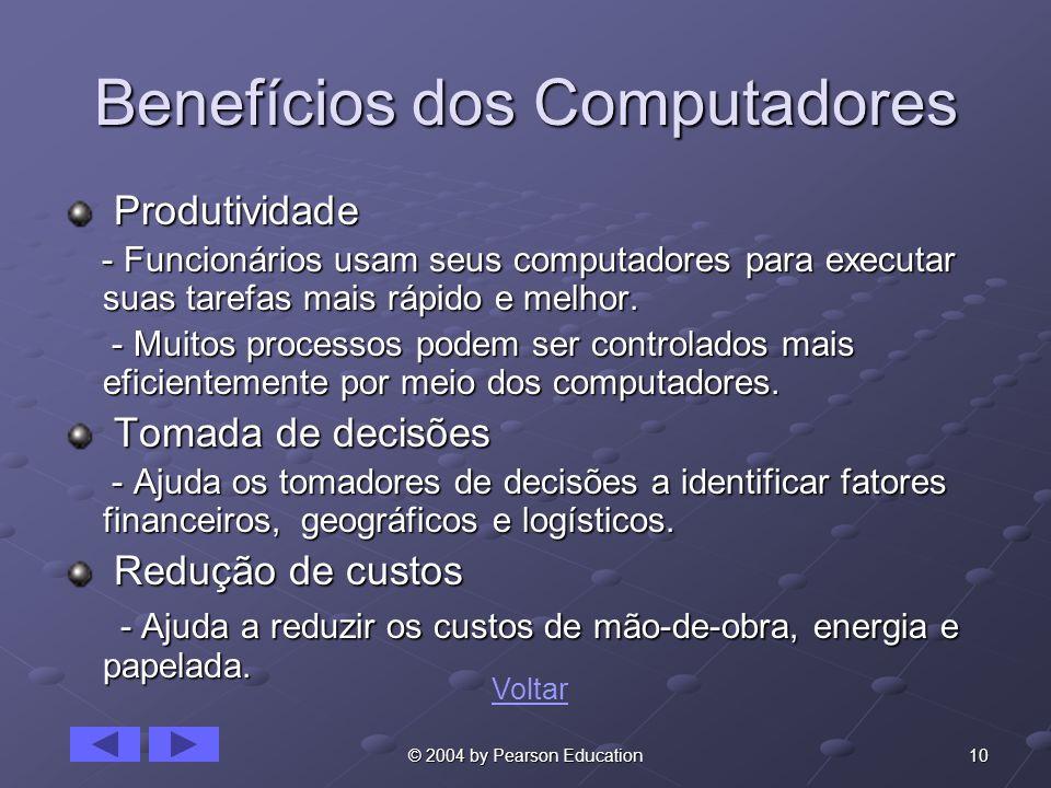 Benefícios dos Computadores