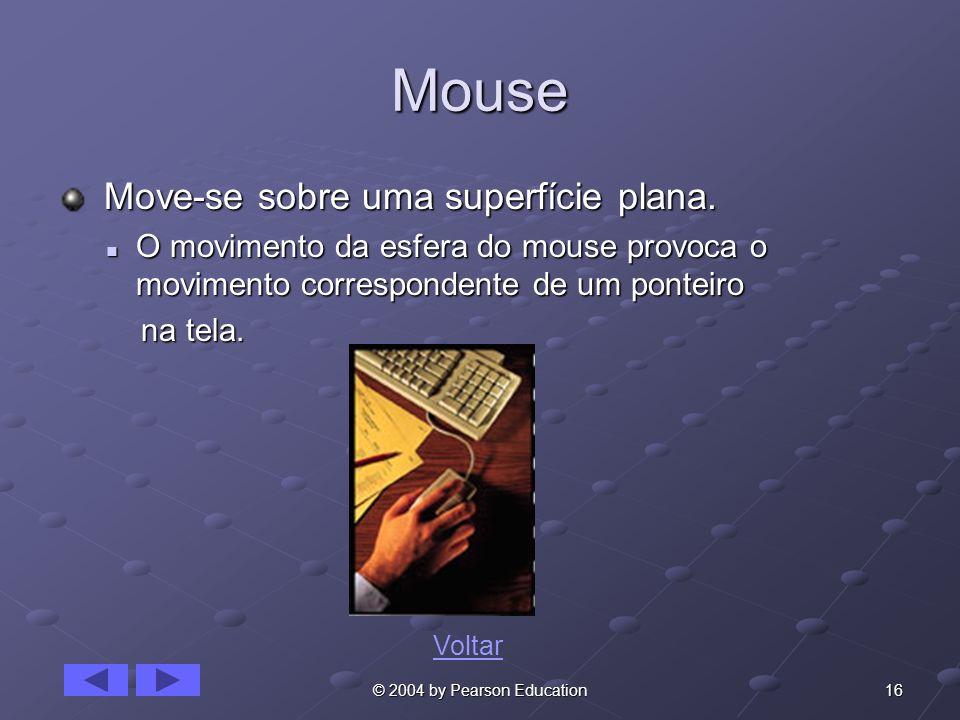 Mouse Move-se sobre uma superfície plana.
