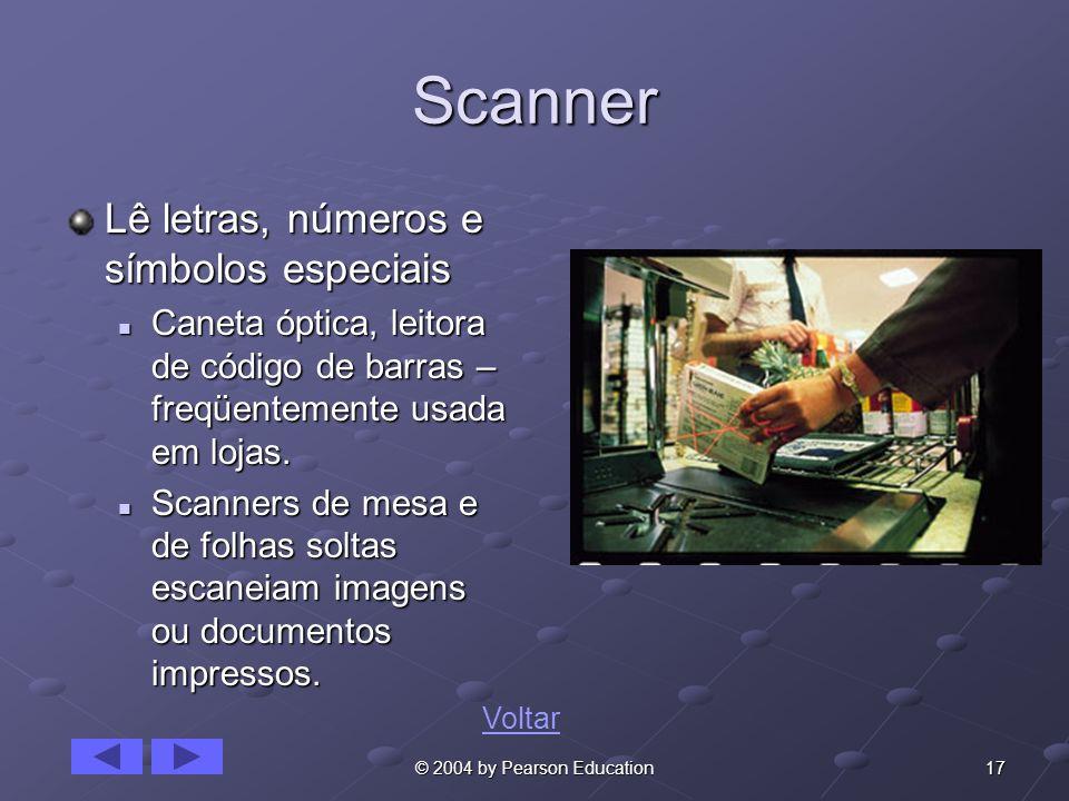 Scanner Lê letras, números e símbolos especiais