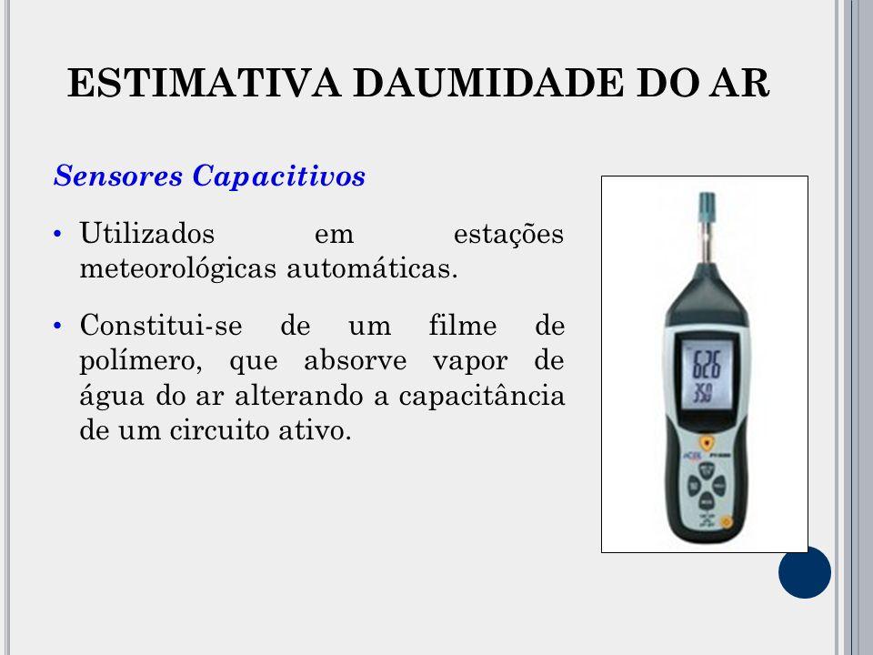 ESTIMATIVA DAUMIDADE DO AR