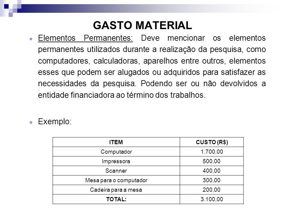 GASTO MATERIAL