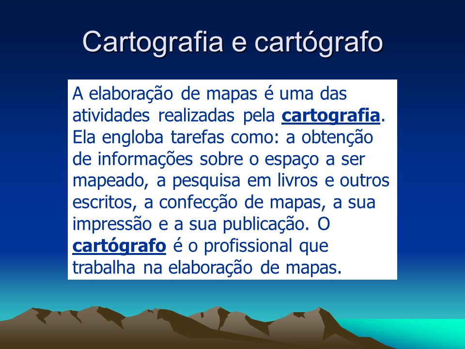 Cartografia e cartógrafo
