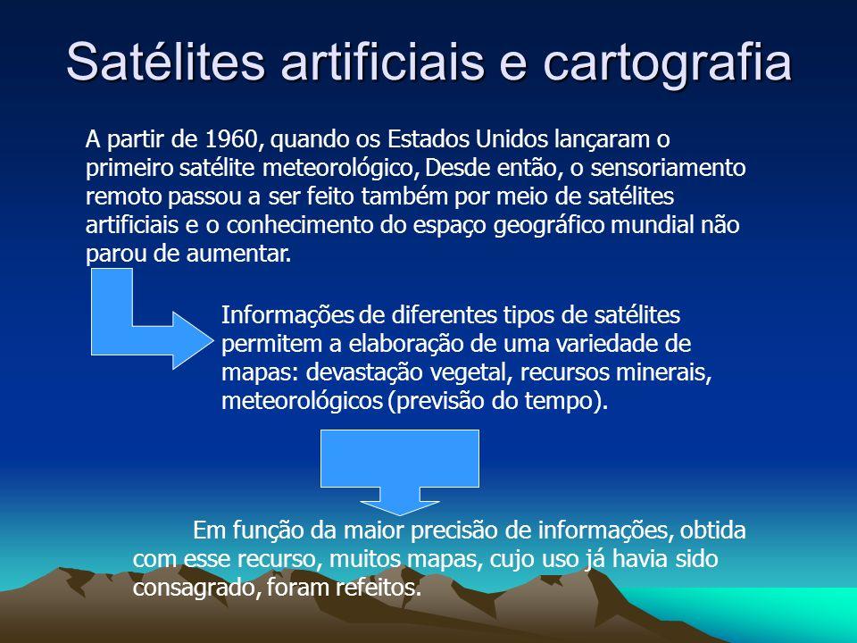 Satélites artificiais e cartografia