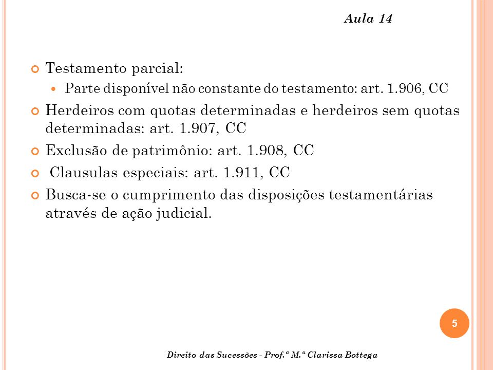 Exclusão de patrimônio: art. 1.908, CC
