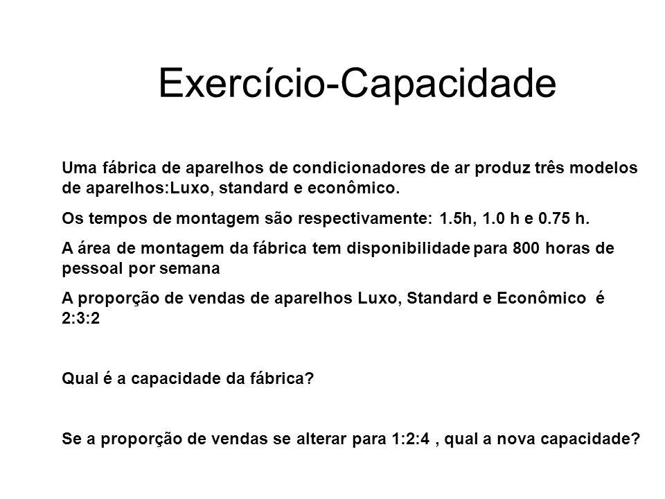 Exercício-Capacidade