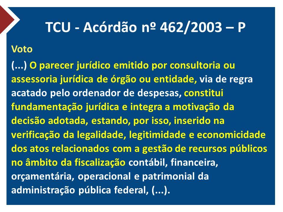 TCU - Acórdão nº 462/2003 – P