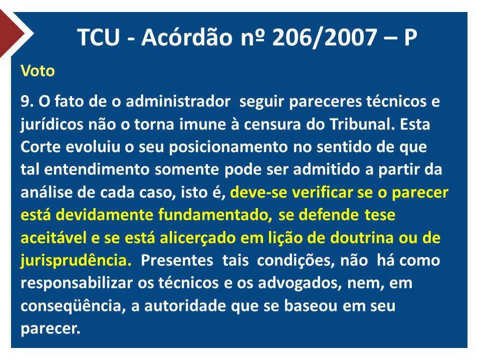TCU - Acórdão nº 206/2007 – P