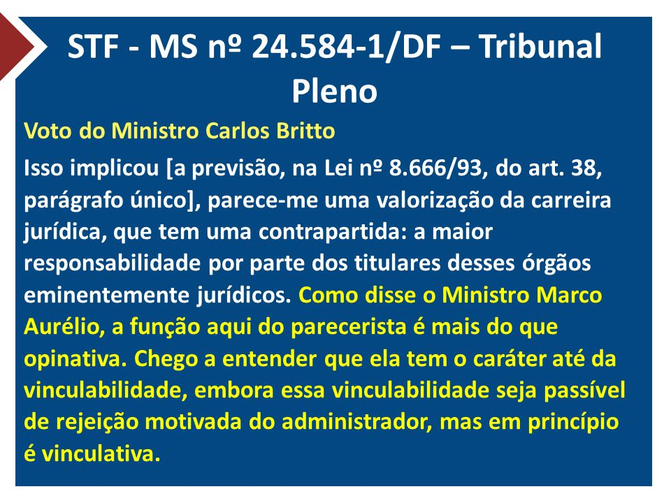 STF - MS nº 24.584-1/DF – Tribunal Pleno
