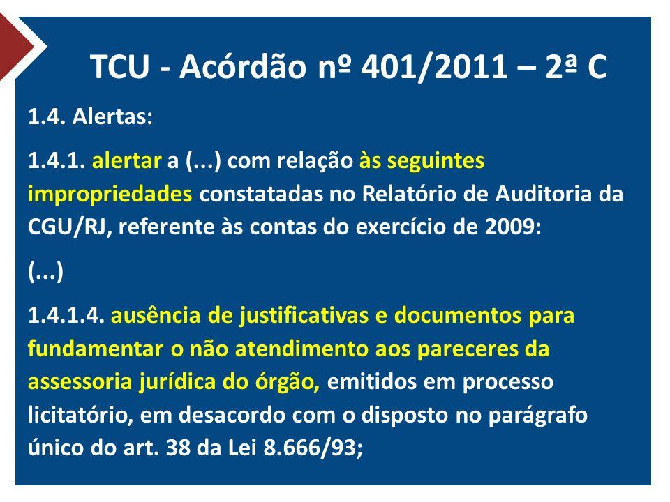 TCU - Acórdão nº 401/2011 – 2ª C