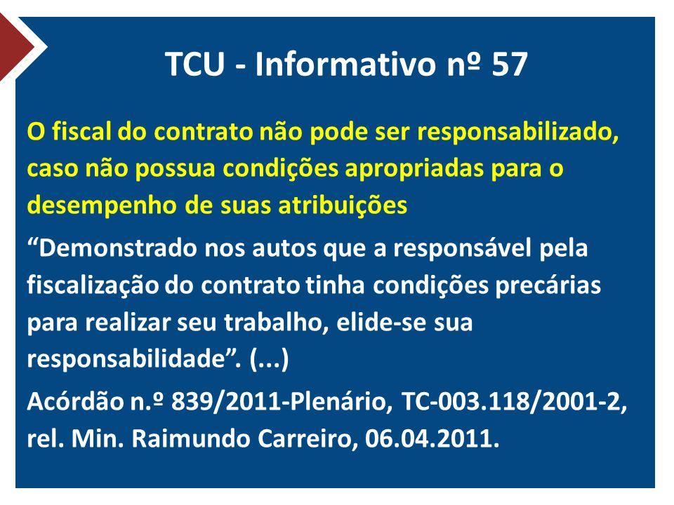 TCU - Informativo nº 57