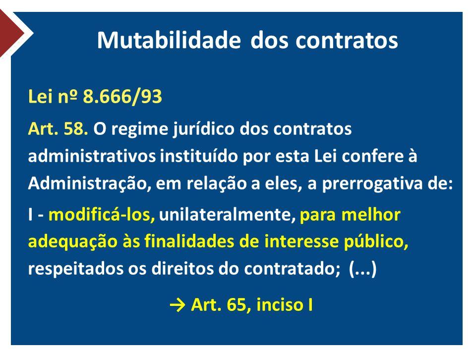 Mutabilidade dos contratos