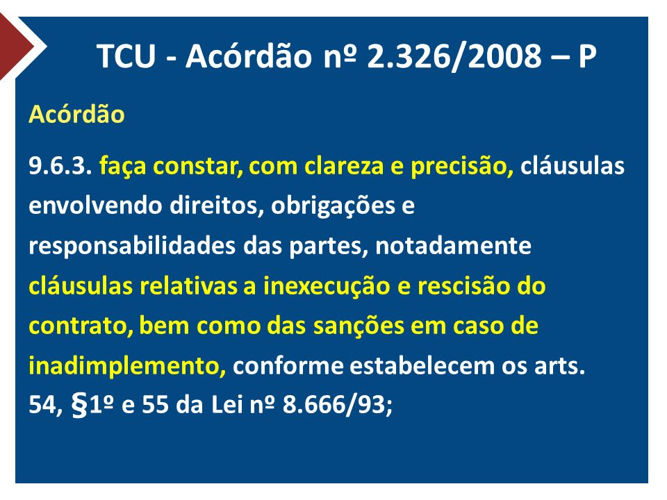 TCU - Acórdão nº 2.326/2008 – P