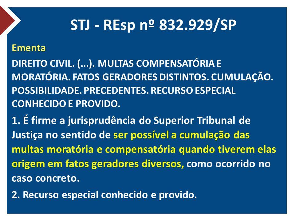 STJ - REsp nº 832.929/SP Ementa.