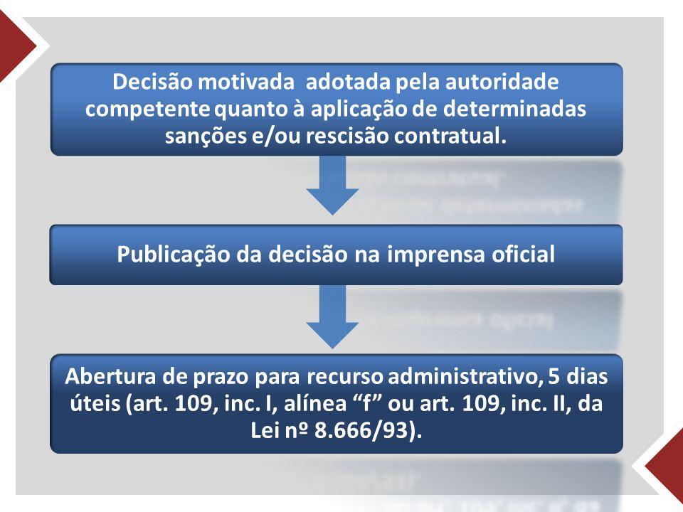 Publicação da decisão na imprensa oficial