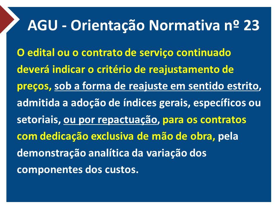 AGU - Orientação Normativa nº 23