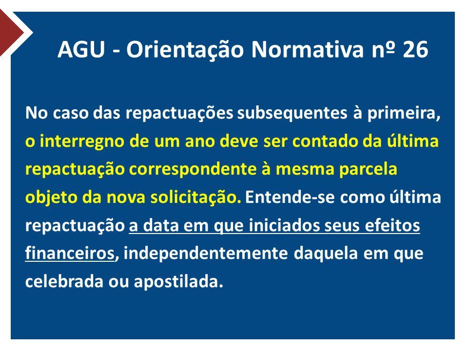 AGU - Orientação Normativa nº 26