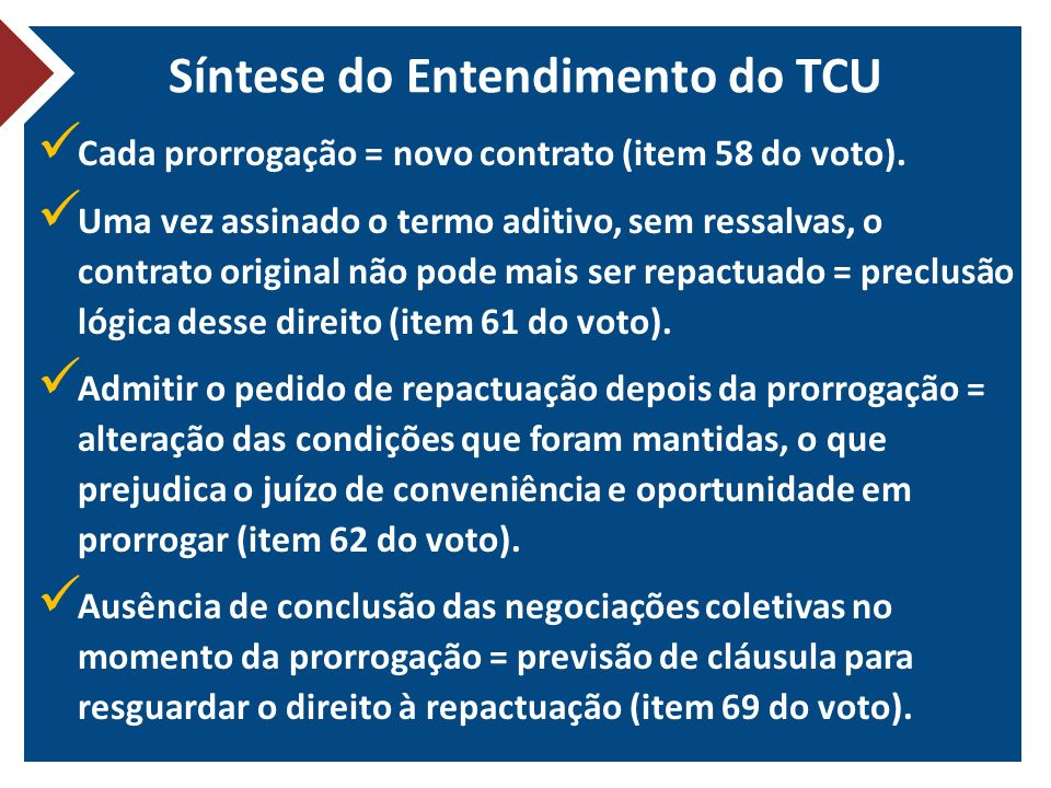 Síntese do Entendimento do TCU