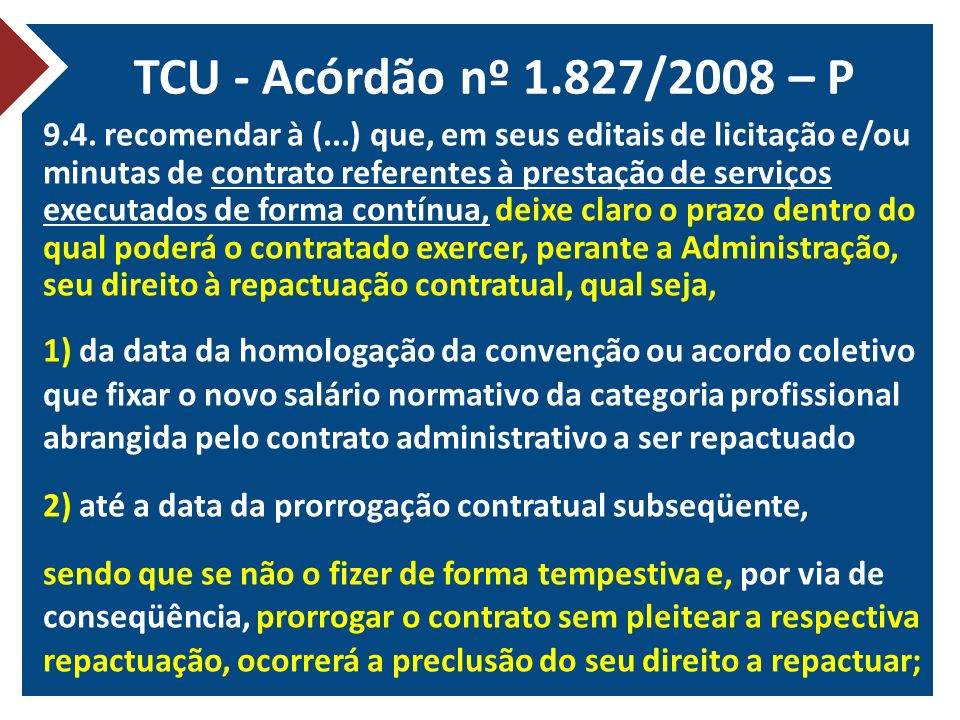TCU - Acórdão nº 1.827/2008 – P