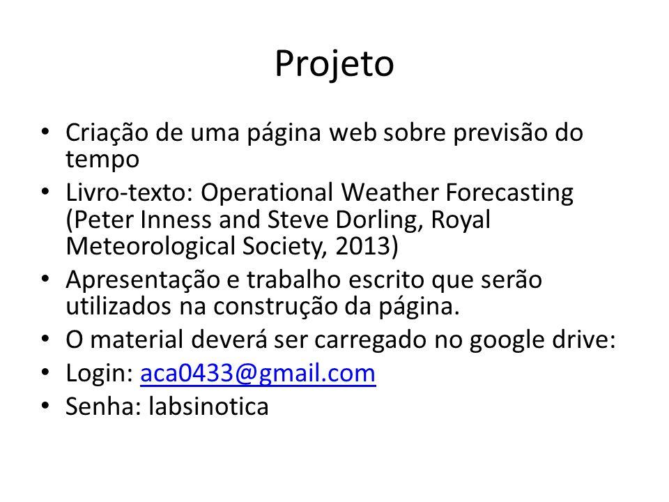 Projeto Criação de uma página web sobre previsão do tempo
