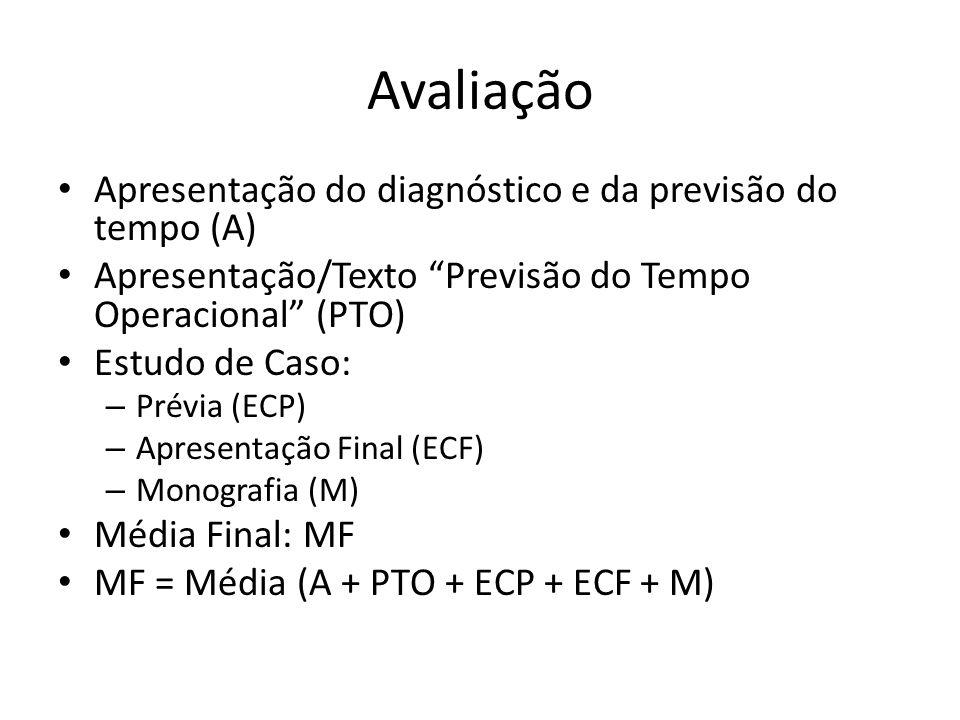 Avaliação Apresentação do diagnóstico e da previsão do tempo (A)