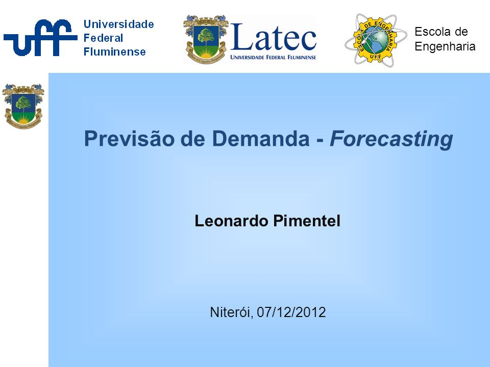 Previsão de Demanda - Forecasting