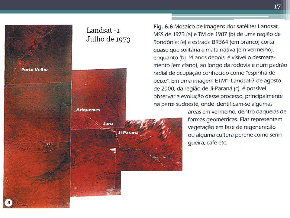 Desmatamento Landsat -1 Julho de 1973