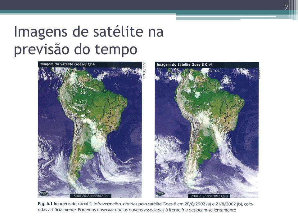 Imagens de satélite na previsão do tempo