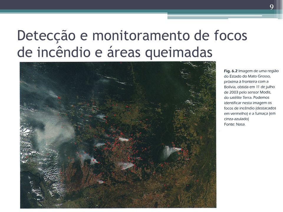 Detecção e monitoramento de focos de incêndio e áreas queimadas