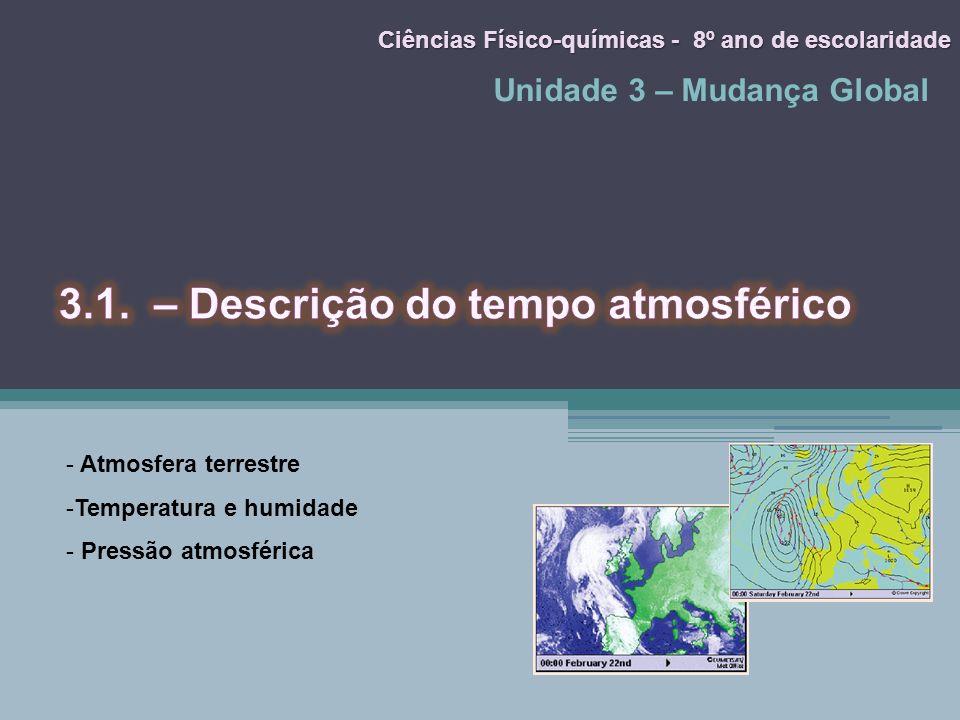 3.1. – Descrição do tempo atmosférico