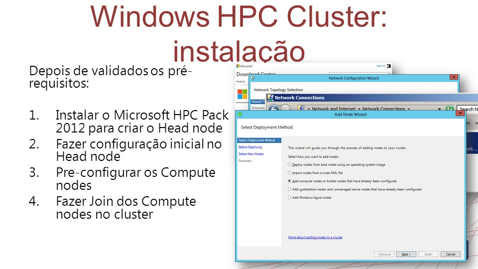 Windows HPC Cluster: instalação