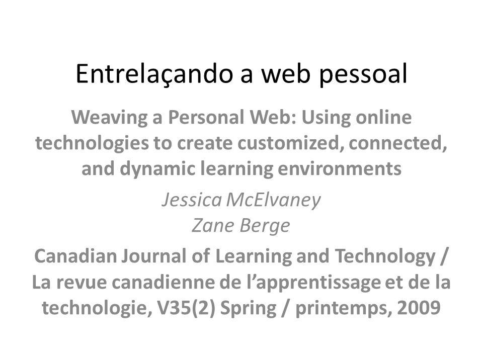 Entrelaçando a web pessoal