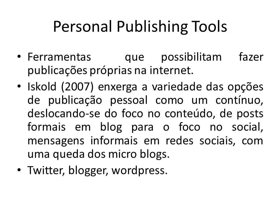 Personal Publishing Tools