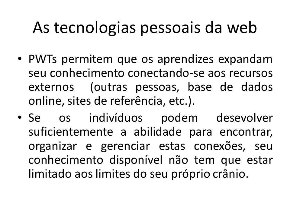 As tecnologias pessoais da web