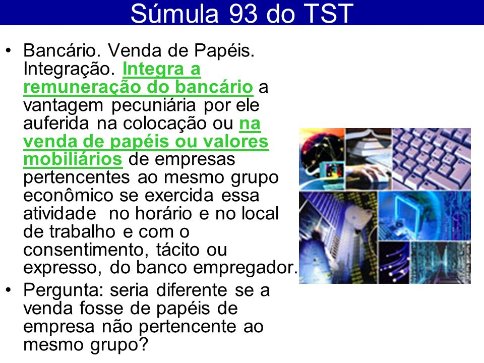 Súmula 93 do TST
