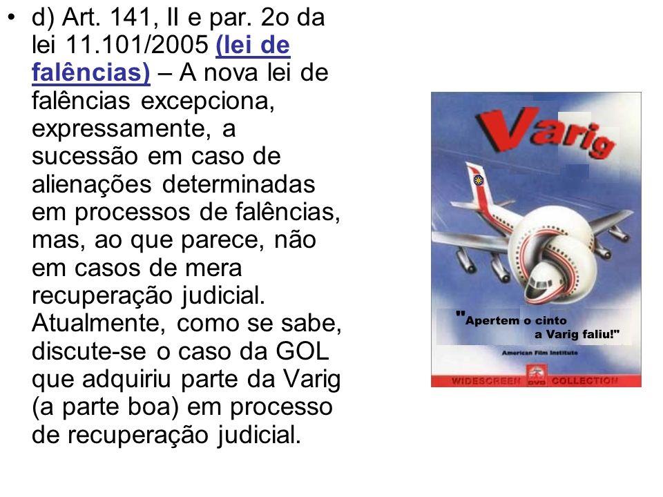 d) Art. 141, II e par.