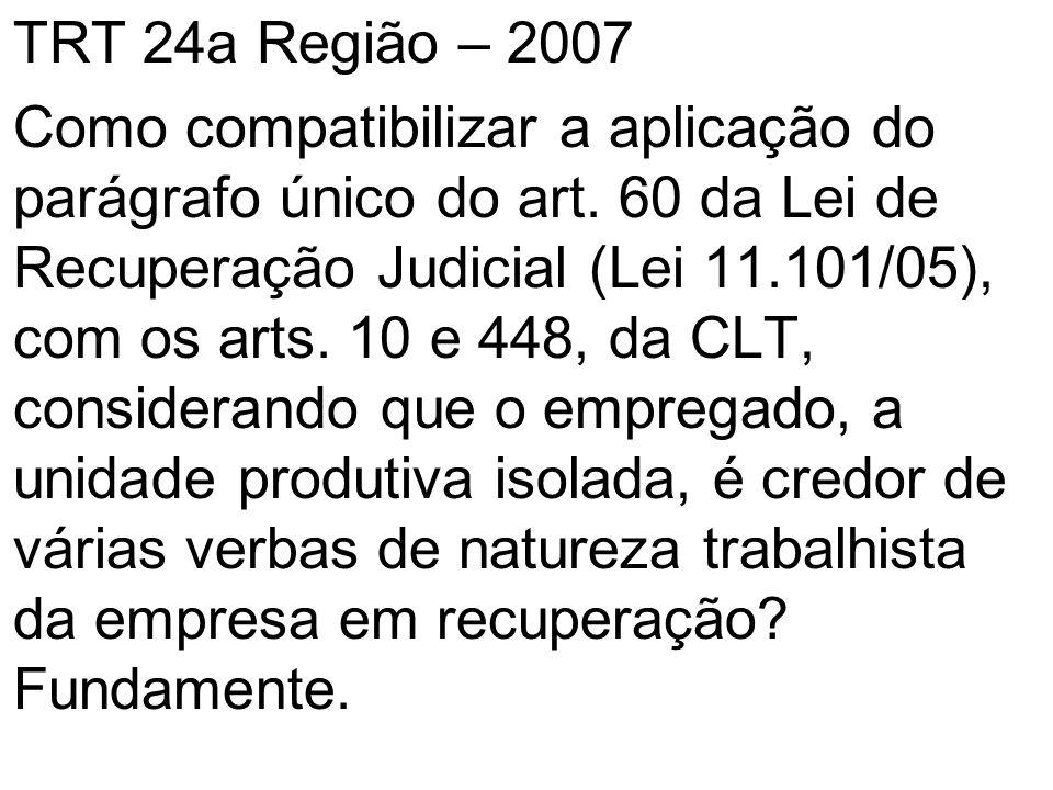 TRT 24a Região – 2007