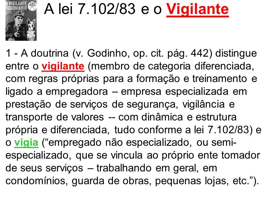 A lei 7.102/83 e o Vigilante