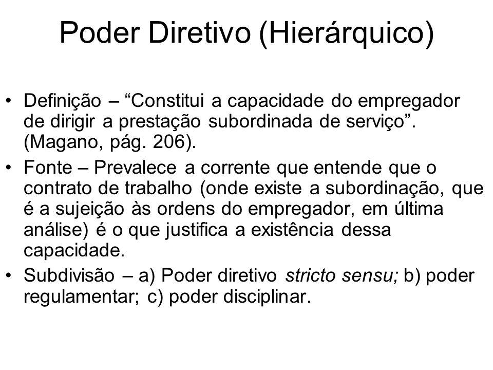 Poder Diretivo (Hierárquico)