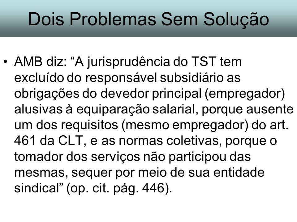 Dois Problemas Sem Solução
