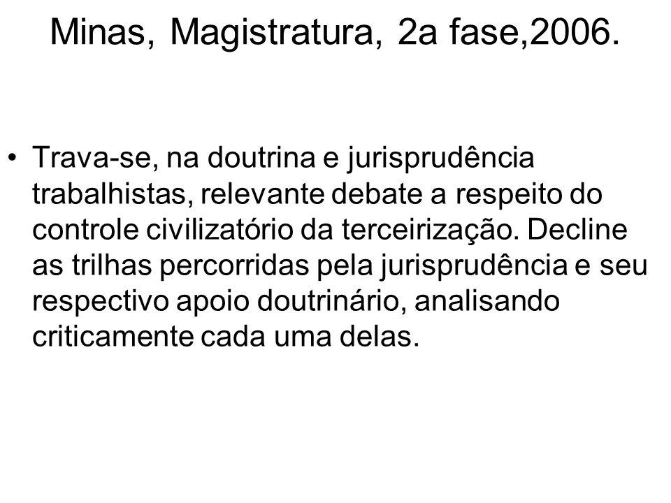 Minas, Magistratura, 2a fase,2006.