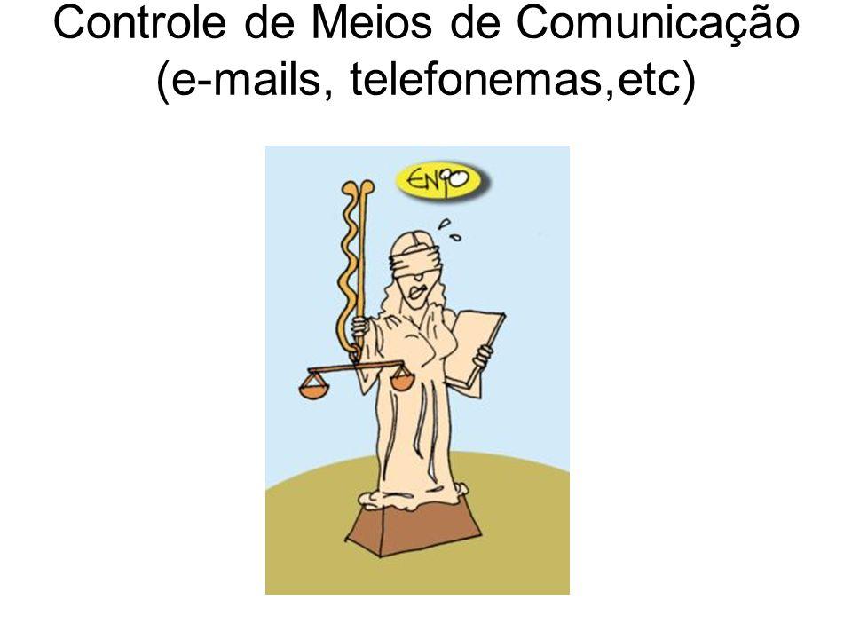 Controle de Meios de Comunicação (e-mails, telefonemas,etc)