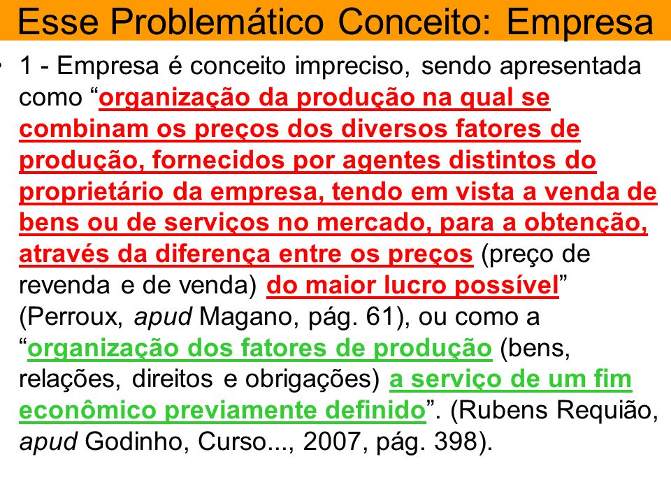 Esse Problemático Conceito: Empresa