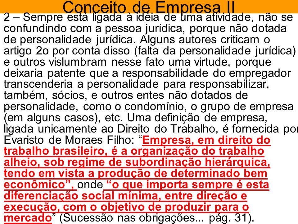 Conceito de Empresa II